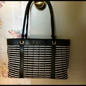 St. John Woven Leather Tote